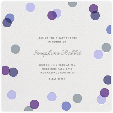 Carnaby - Purple - Paperless Post - Baby Shower Invitations