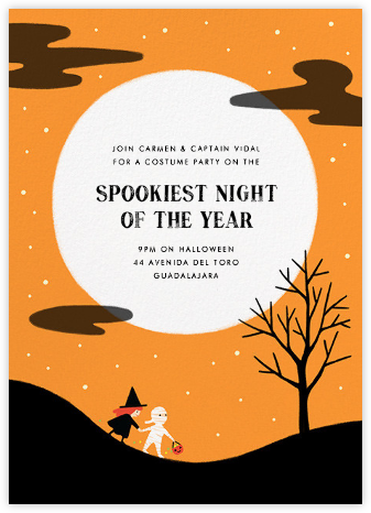 Little Full Moon - Paperless Post - Halloween invitations