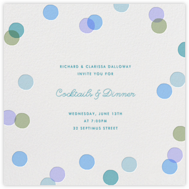 Carnaby - Light Blue - Paperless Post - Dinner Party Invitations
