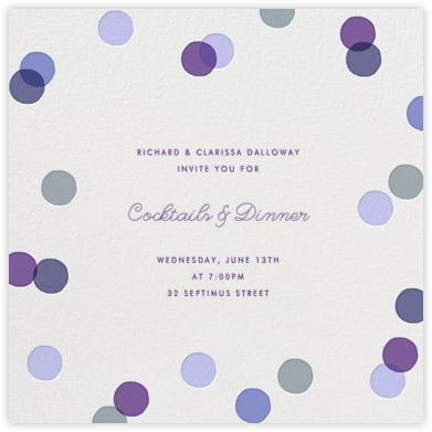 Carnaby - Purple - Paperless Post - Dinner Party Invitations