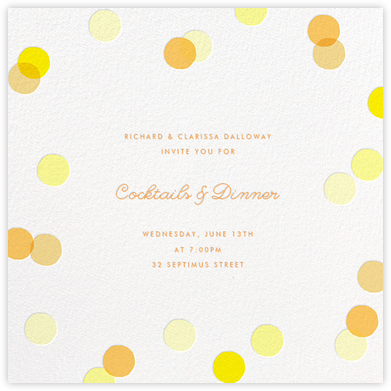 Carnaby - Yellow - Paperless Post - Business event invitations