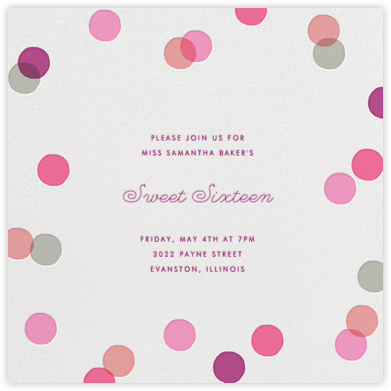 Carnaby - Pink - Paperless Post - Sweet 16 Invitations