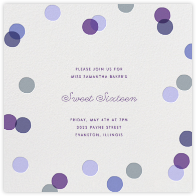 Carnaby - Purple - Paperless Post - Sweet 16 invitations