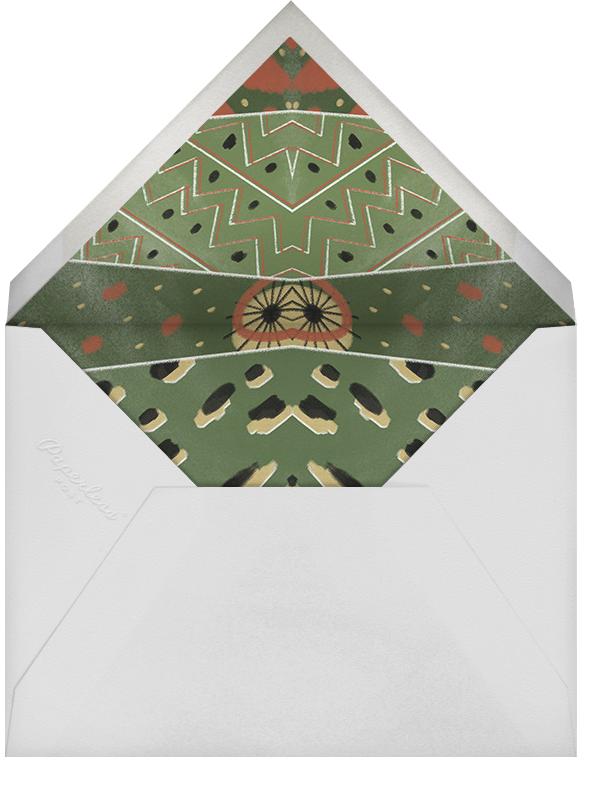 Dashiki Patchwork - Green - Paperless Post - Kwanzaa - envelope back
