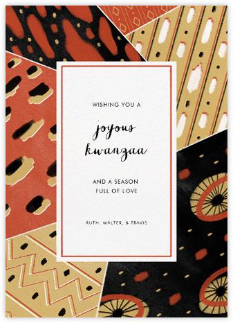 Dashiki Patchwork - Red - Paperless Post - Kwanzaa Cards