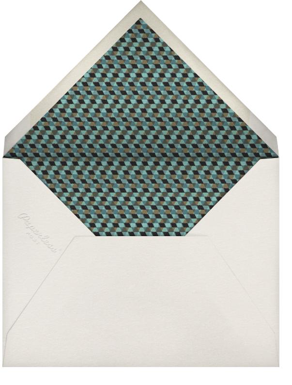 Mbulu Feathers - Blue - Paperless Post - Kwanzaa - envelope back