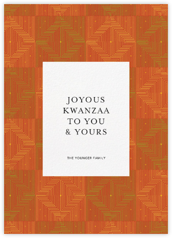 Umoja - Red - Paperless Post - Kwanzaa Cards