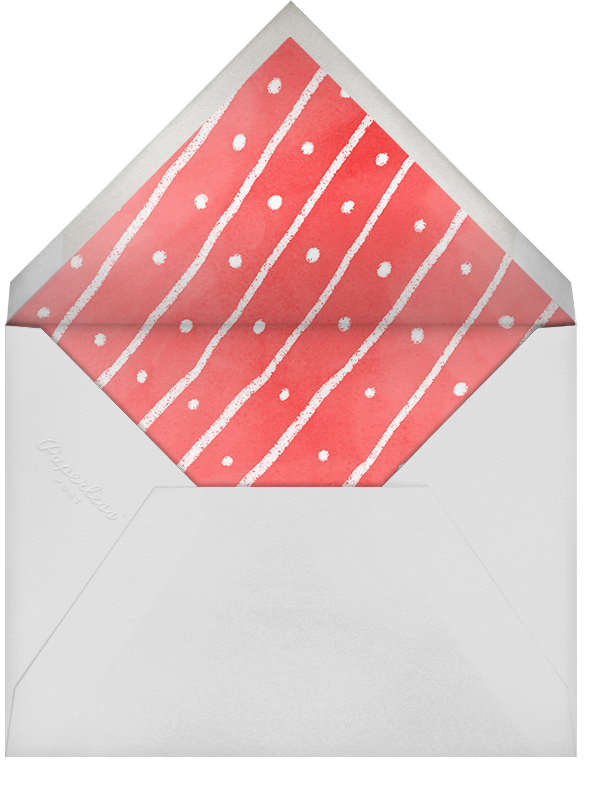 Under The Tree - Paperless Post - Christmas party - envelope back