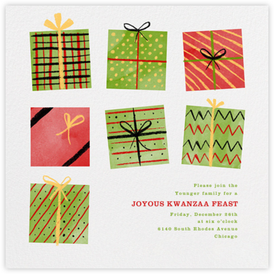 Presents - Paperless Post - Kwanzaa Invitations