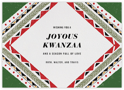 Kasm Velvet - Paperless Post - Kwanzaa Cards