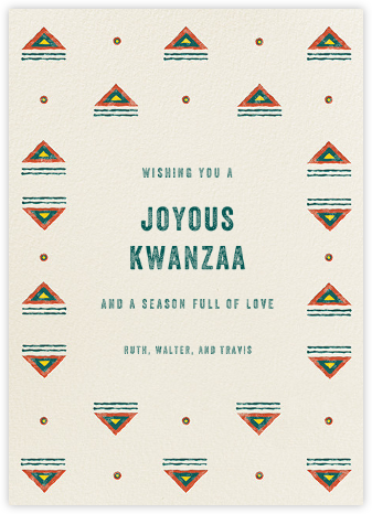 Mudcloth - Paperless Post - Kwanzaa Cards