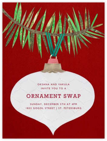 Ornament Branch - Paperless Post - Christmas invitations