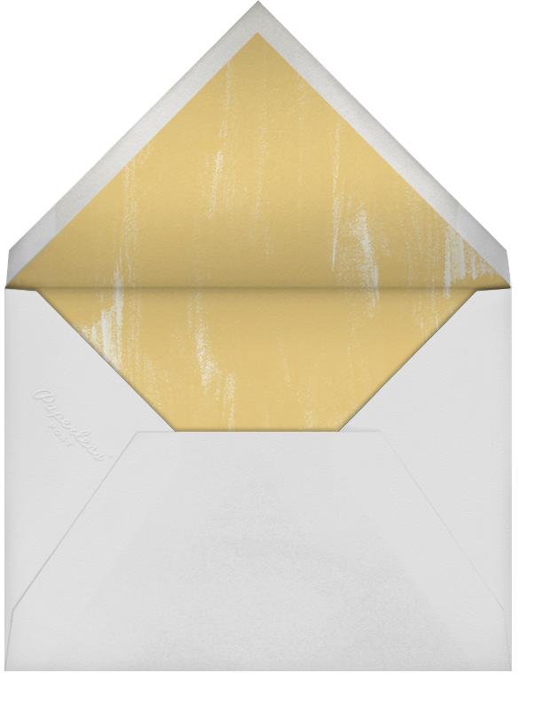 Watercolor - Green - Oscar de la Renta - Cocktail party - envelope back