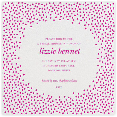 Ikat Dot - Ivory/Magenta - Oscar de la Renta - Bridal shower invitations