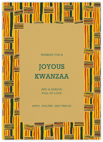 Kente - Paperless Post - Kwanzaa Cards