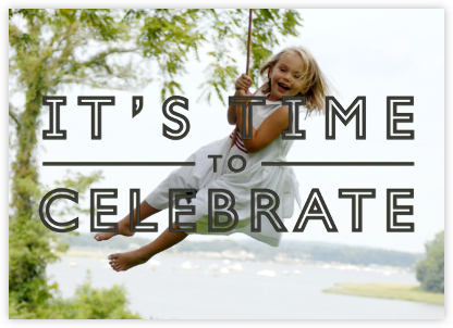 It's Time To Celebrate - Black - Paperless Post - null