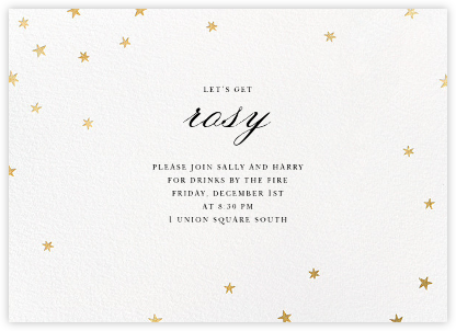 Nightly - White/Gold - Paperless Post - Winter Party Invitations