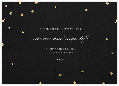 Nightly - Black/Gold - Paperless Post - Dinner party invitations