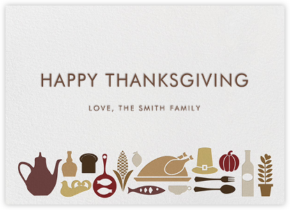 Turkey at the Table - Jonathan Adler - Thanksgiving Cards