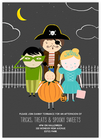 All Dressed Up - Paperless Post - Halloween invitations