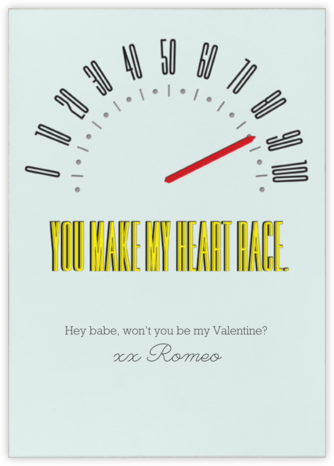 You Make My Heart Race - Paperless Post - Valentine's Day Cards