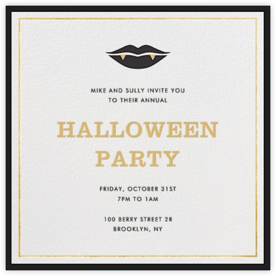 Ms. Fangs - Jonathan Adler - Halloween invitations