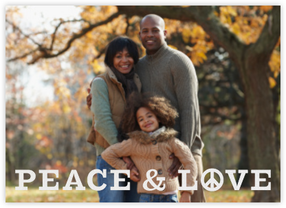 Peace and Love - White - Jonathan Adler - Holiday Cards