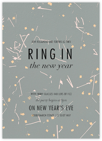 Fetiluxe - Green - Kelly Wearstler - New Year's Eve Invitations