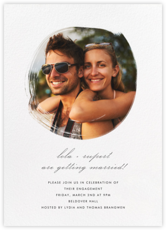 Painted Circle - Paperless Post - Engagement party invitations