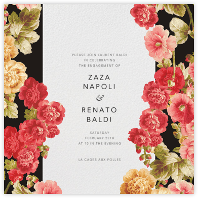 Garden Floral Ikat - Oscar de la Renta - Engagement party invitations