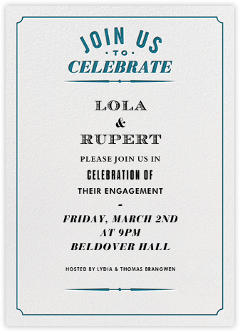 Seal The Date Tall - Nile - Paperless Post - Engagement party invitations