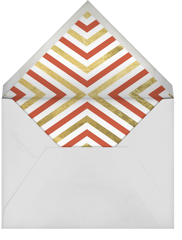 Cupid's Target - Gold - Jonathan Adler - Engagement party - envelope back