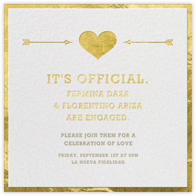 Cupid's Target - Gold - Jonathan Adler - Engagement party invitations