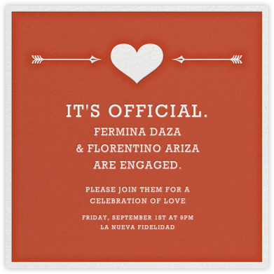 Cupid's Target - Red - Jonathan Adler - Engagement party invitations