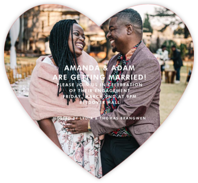 Full Bleed Heart (Single-Sided) - Paperless Post - Engagement party invitations