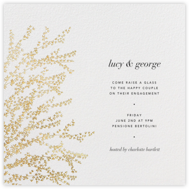 Forsythia - Gold - Paperless Post - Engagement party invitations