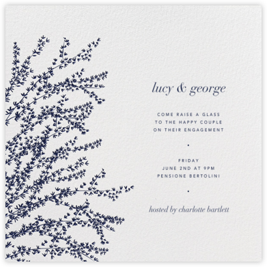 Forsythia (Navy) - Paperless Post - Engagement party invitations