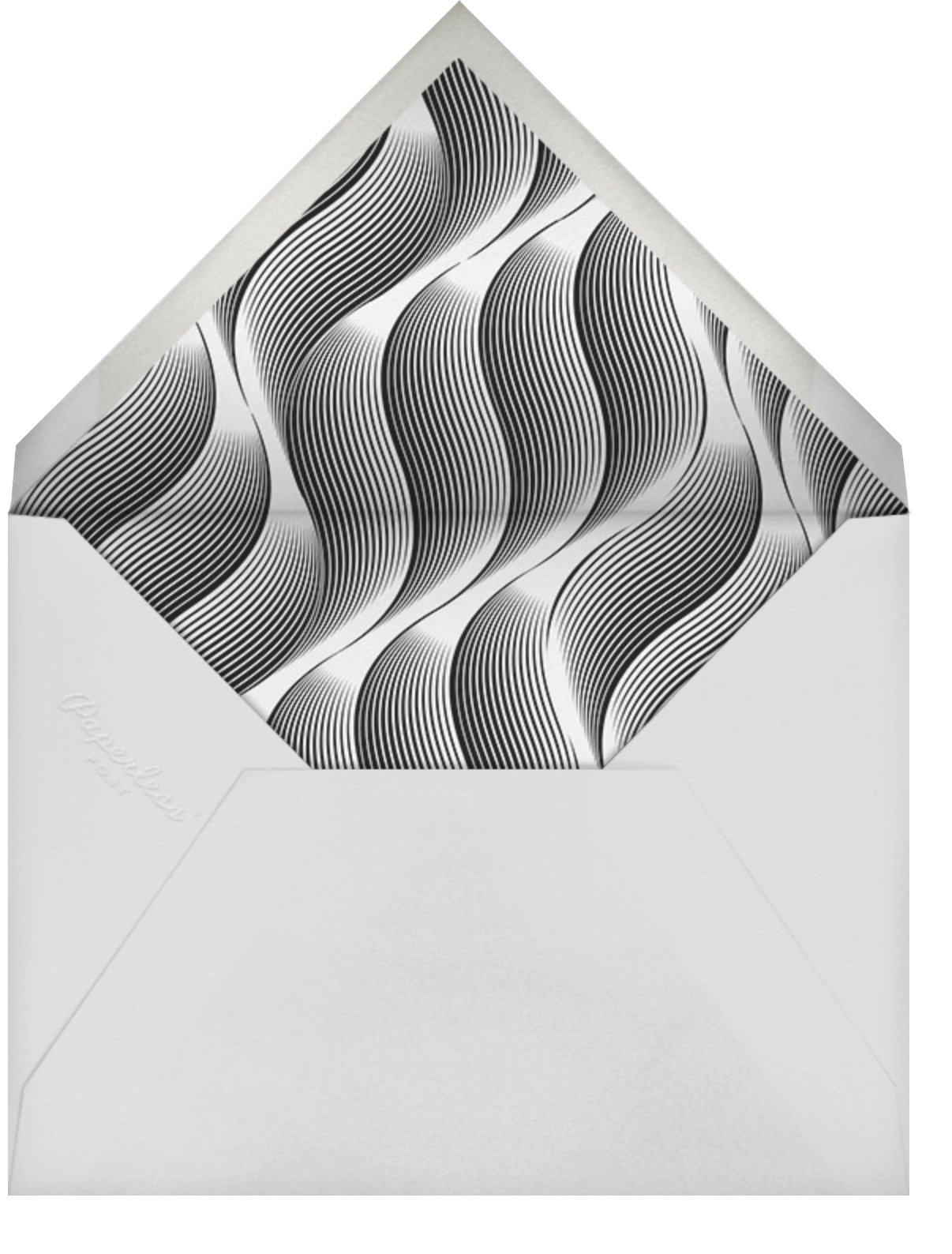 Vertical Waves - Lagoon  - Paperless Post - New Year's Eve - envelope back