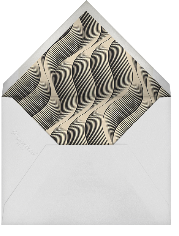 Vertical Waves - Gold - Paperless Post - New Year's Eve - envelope back