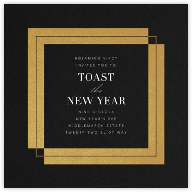 Time Out - Gold - Paperless Post - New Year's Eve Invitations