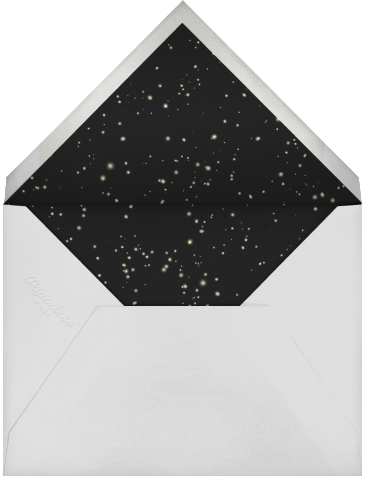 Time Out - Gold - Paperless Post - New Year's Eve - envelope back