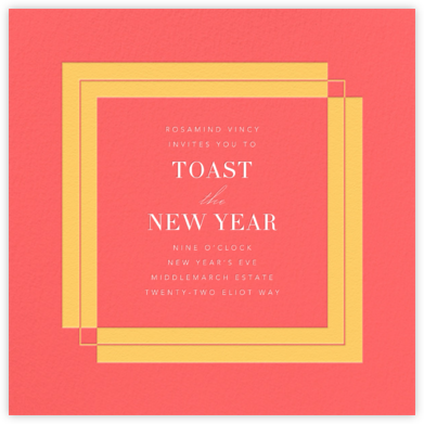 Time Out - Coral - Paperless Post - New Year's Eve Invitations