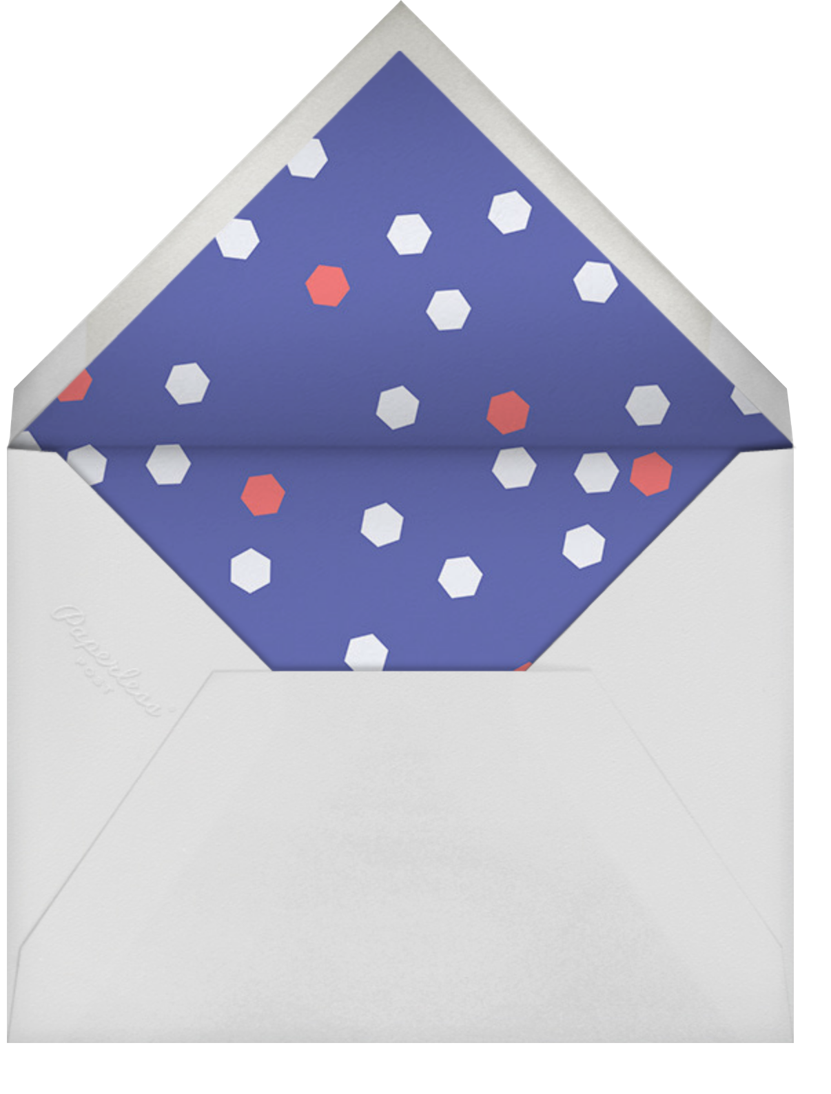 Time Out - Coral - Paperless Post - New Year's Eve - envelope back