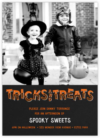 Tricks and Treats - Photo (Tall) - Paperless Post