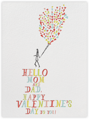 Look at those Balloons - Mr. Boddington's Studio - Valentine's day cards
