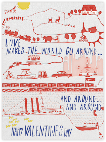 The World Spins - Mr. Boddington's Studio - Valentine's Day Cards