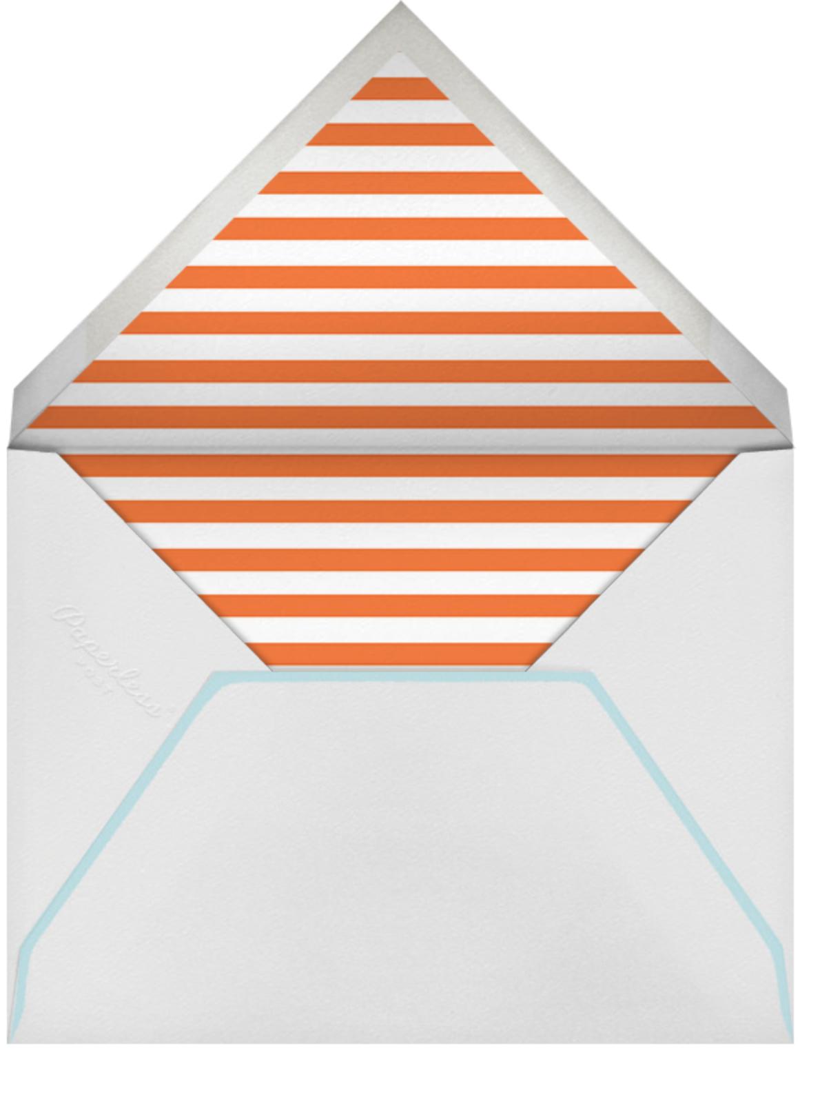 Heart - Blue Orange - The Indigo Bunting - Engagement party - envelope back