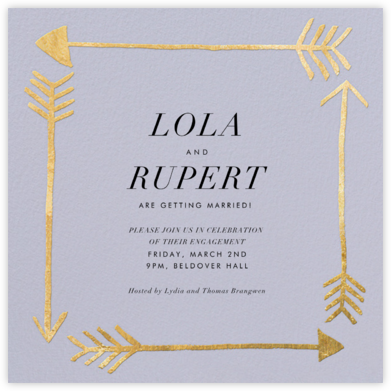 Love Struck - Periwinkle - Kelly Wearstler - Engagement party invitations