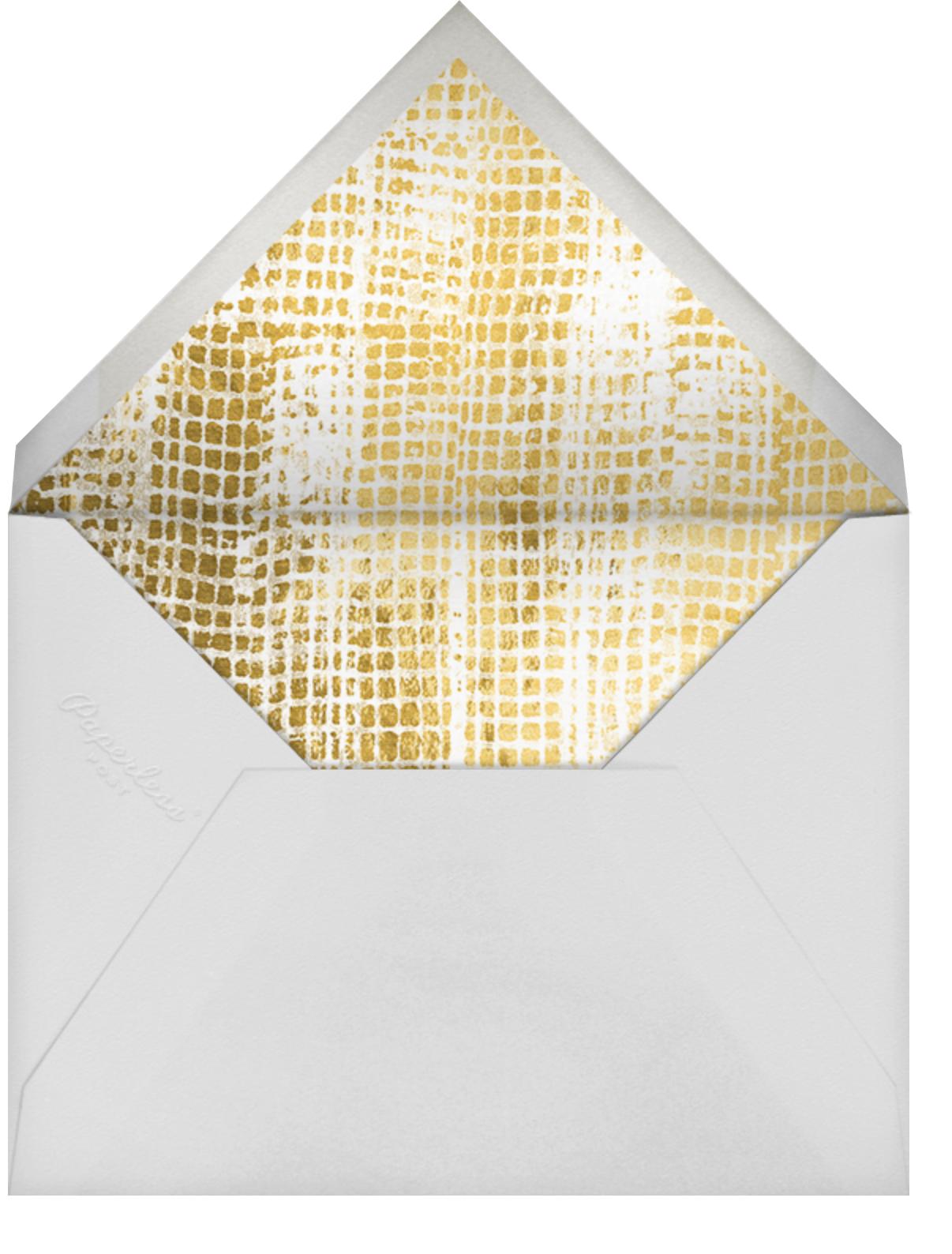Love Struck - Pitch - Kelly Wearstler - Engagement party - envelope back