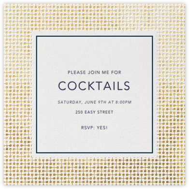 Jacks - Gold - Jonathan Adler - New Year's Eve Invitations
